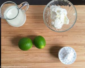 Zwei Limetten, Milch und weitere Zutaten