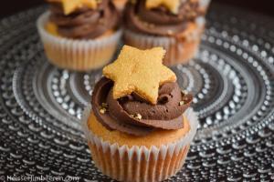 Marzipan Cupcakes mit einem Stern