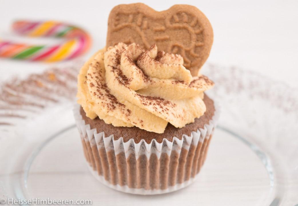 Ein Spekulatius Cupcake