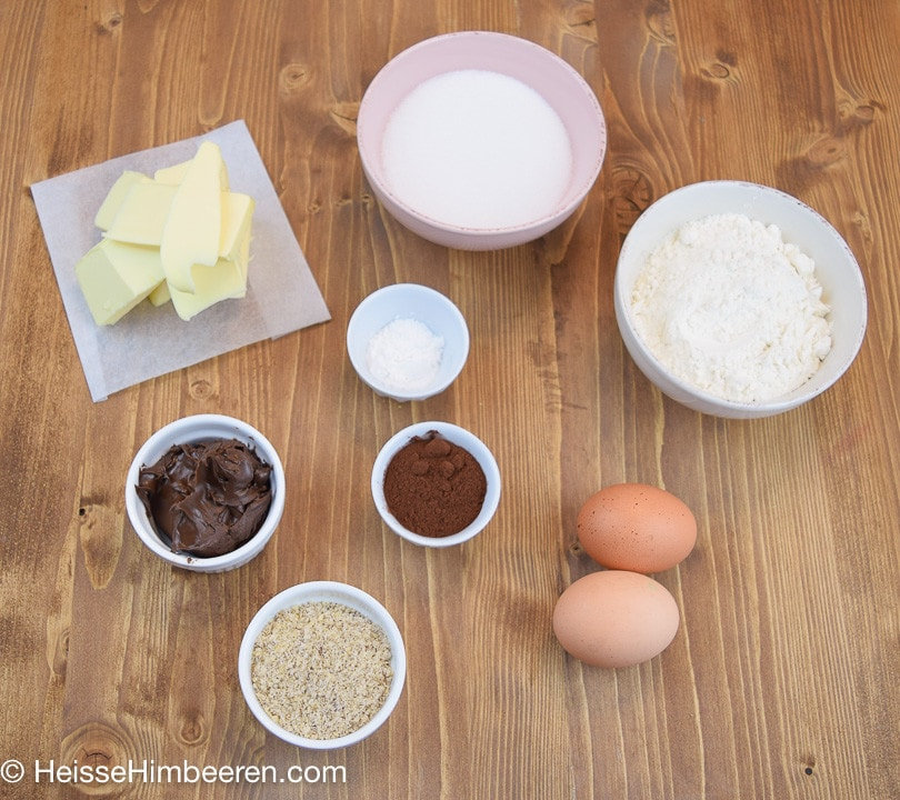 Zutaten für die Muffins