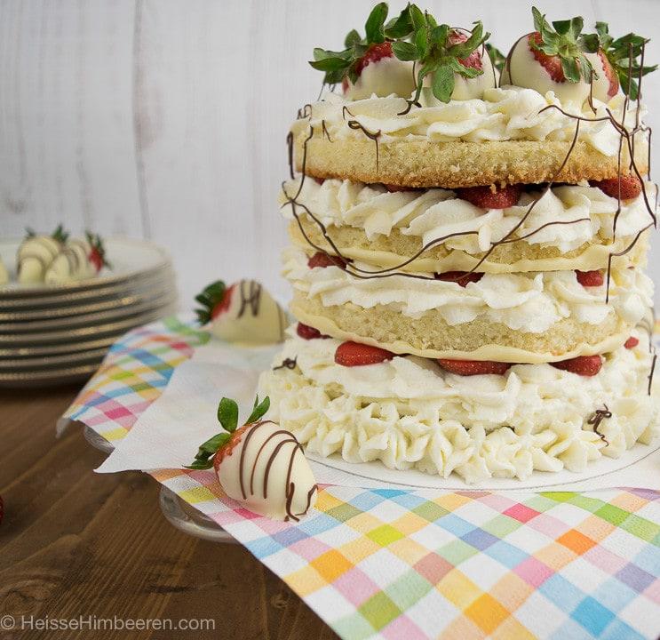 torte mit weißer schokolade