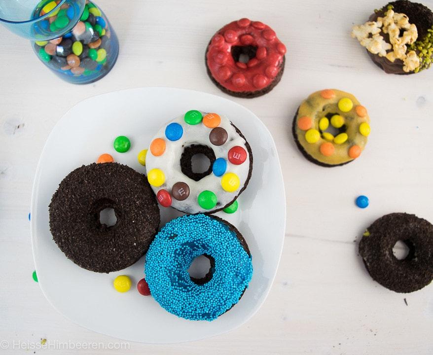 Donuts mit unterschiedlichem Donut Topping