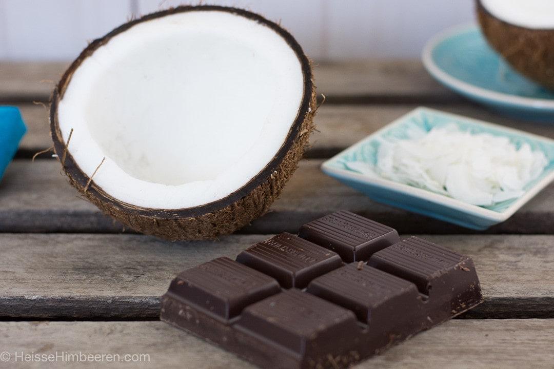 Schokolade und Kokos als Zutaten