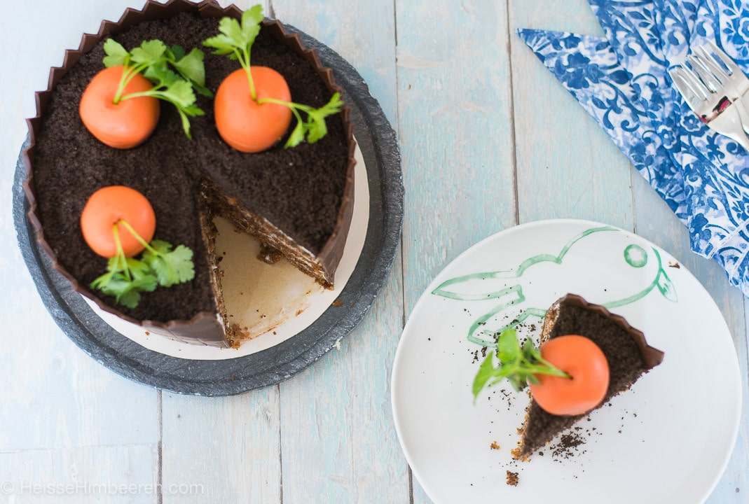 karottenkuchen mit creme