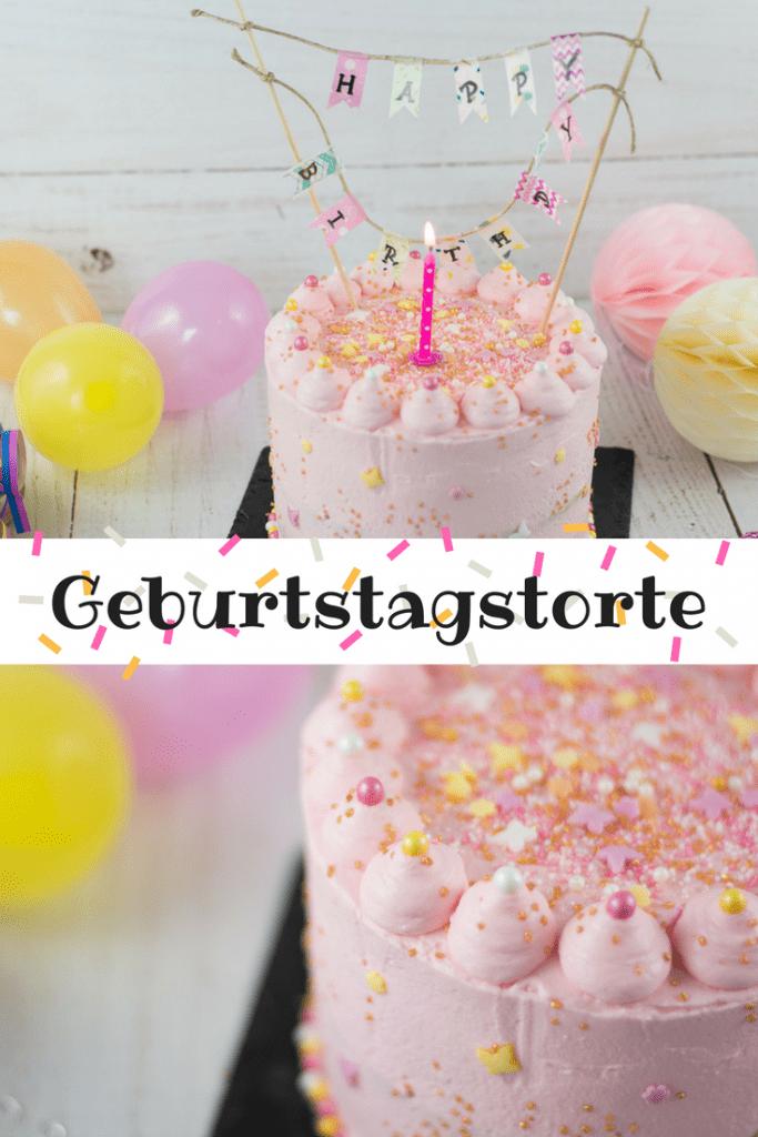 Pinterest Grafik der Geburtstagstorte 1 Jahr mit Rezept