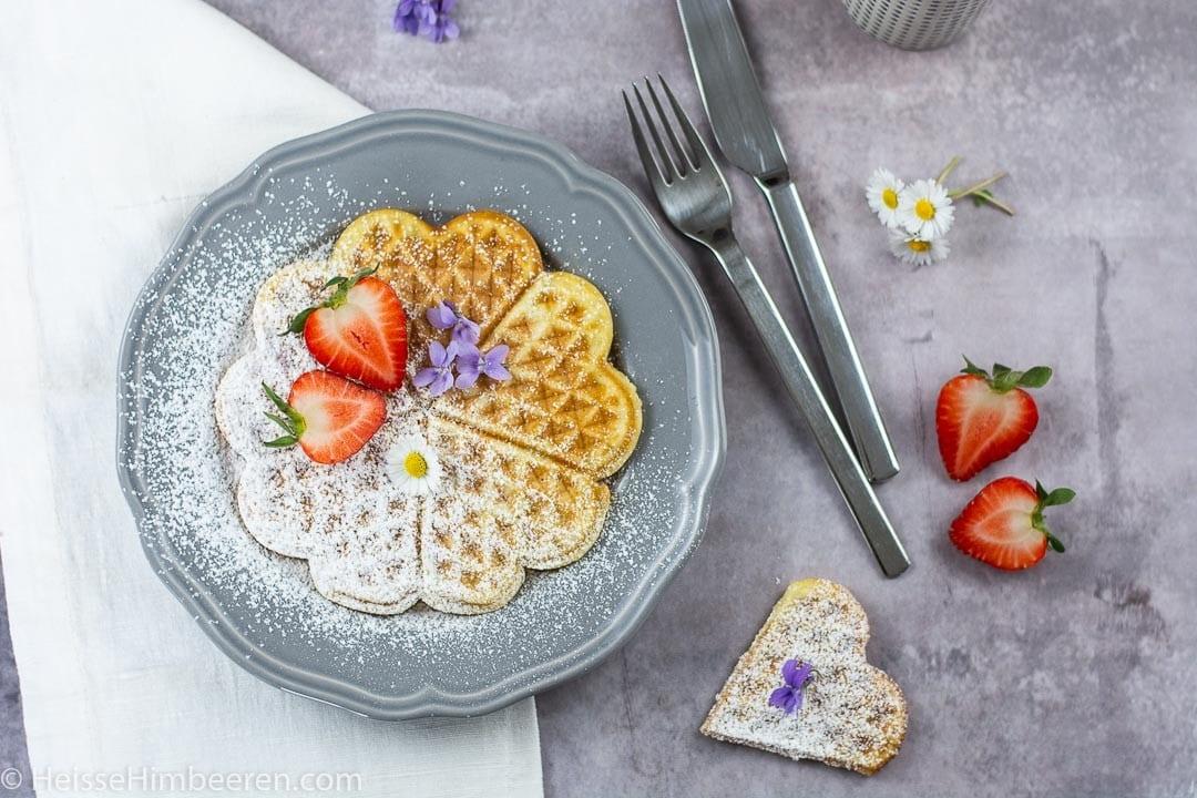 Ein Waffelrezept für das Frühstück