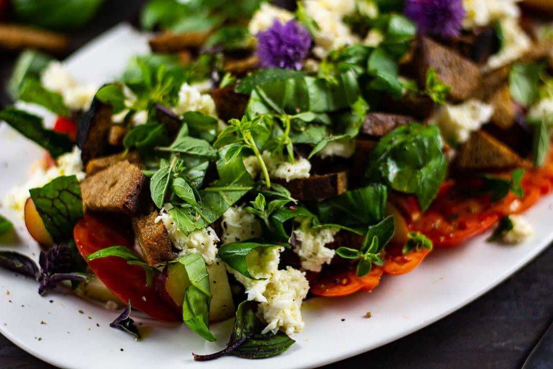 Der Salat in der Nahaufnahme