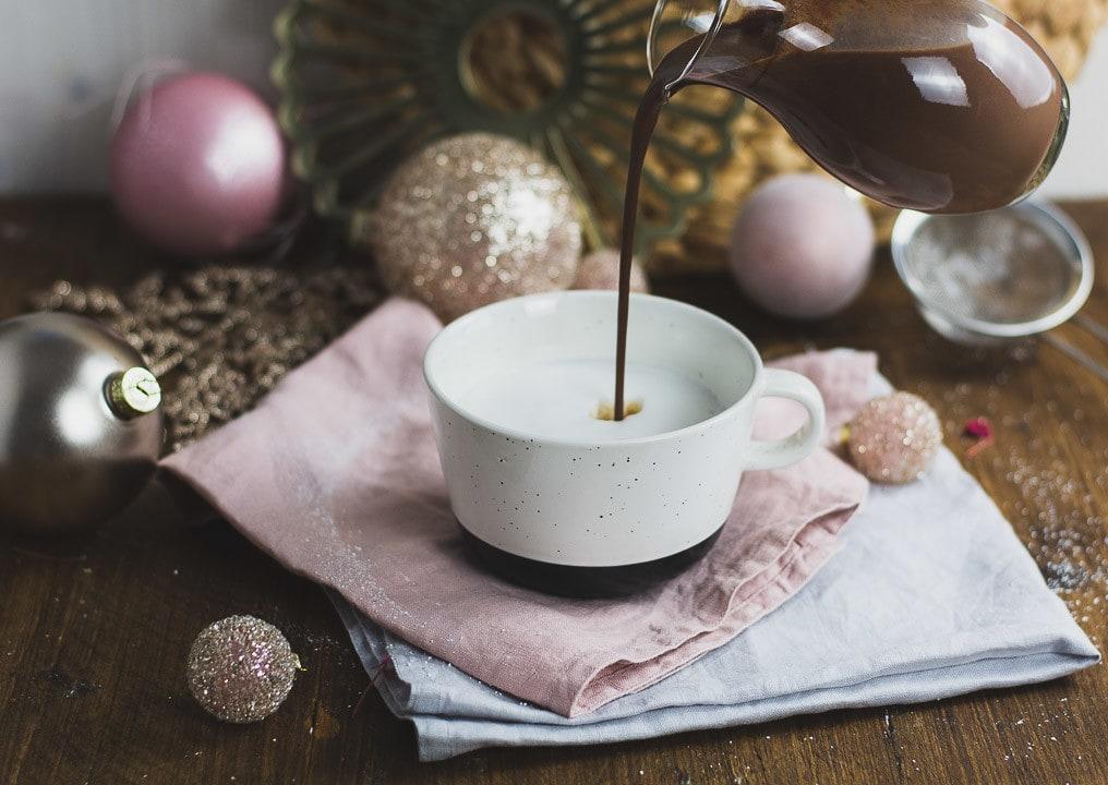Eine cremige Heiße Schokolade