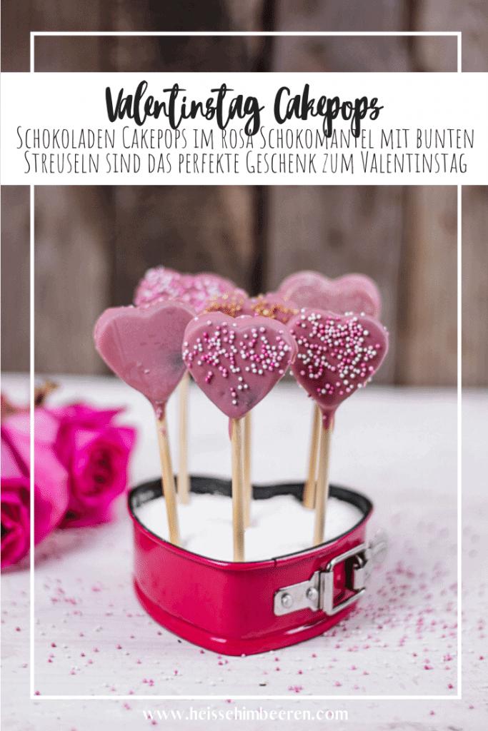 Eine Valentinstag Cake Pop Grafik