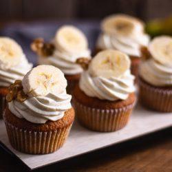 Leckere Bananen Cupcakes