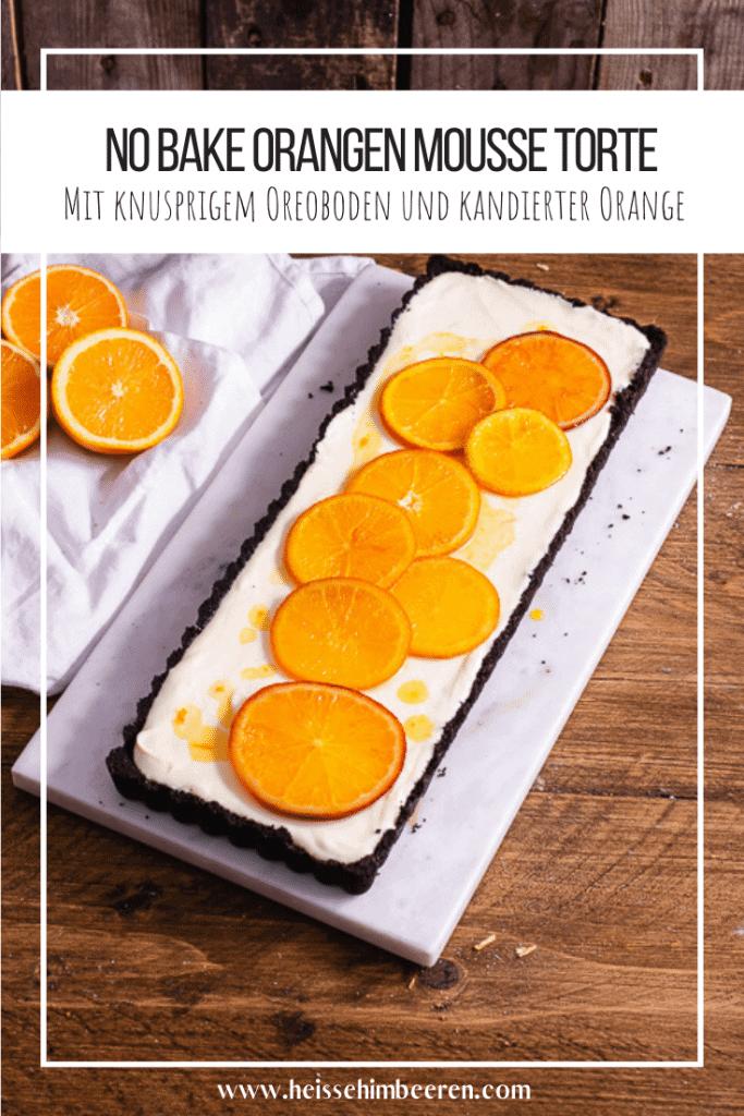 Orangen Tarte mit vielen Orangen als Grafik
