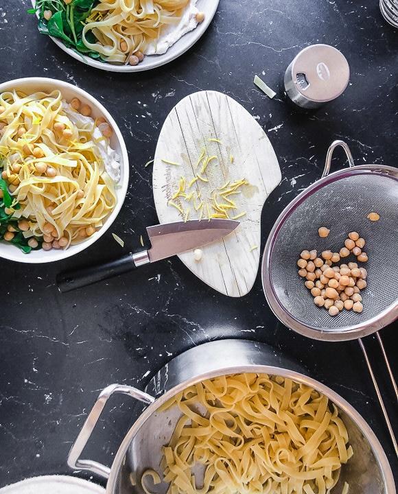 Zutaten für das Pasta Rezept mit Ricotta