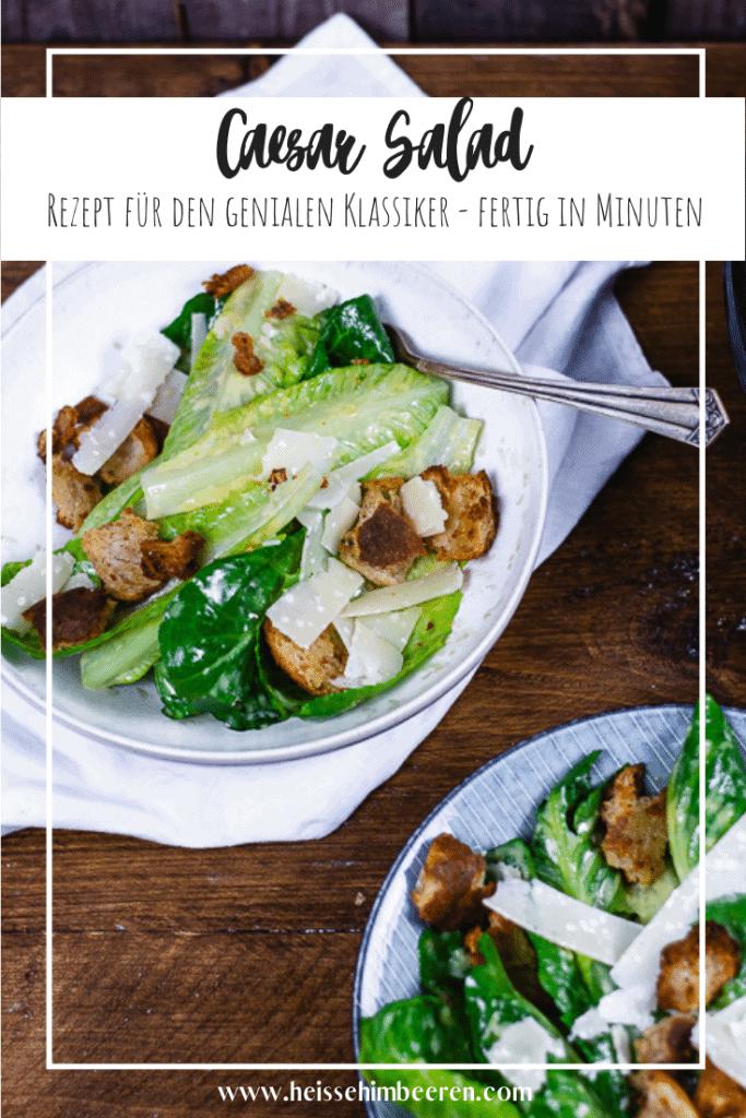 Eine Caesar Salad Rezept als Grafik
