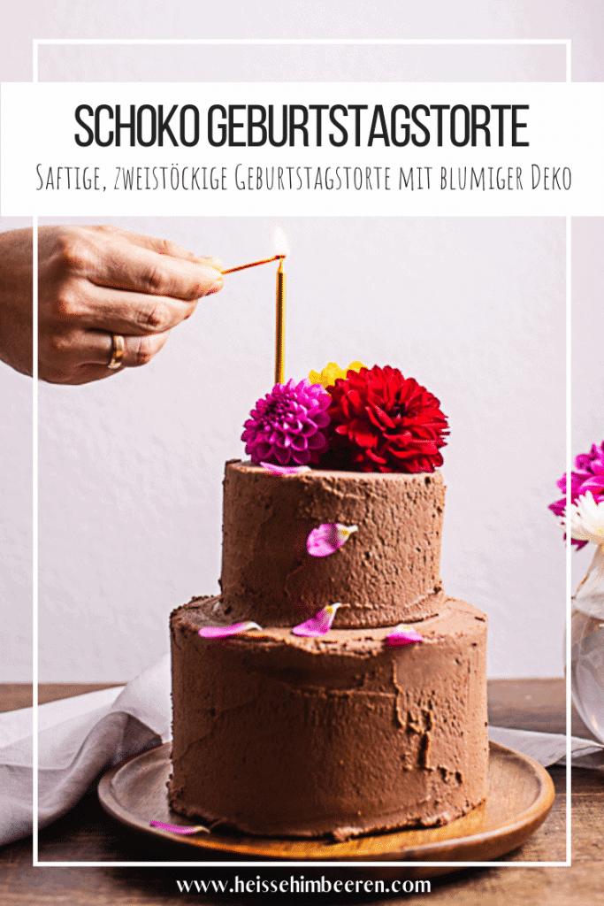 Ein Geburtstagstorte Rezept als Grafik