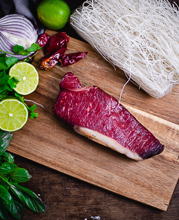 Das Fleisch für das Pho Bo Rezept